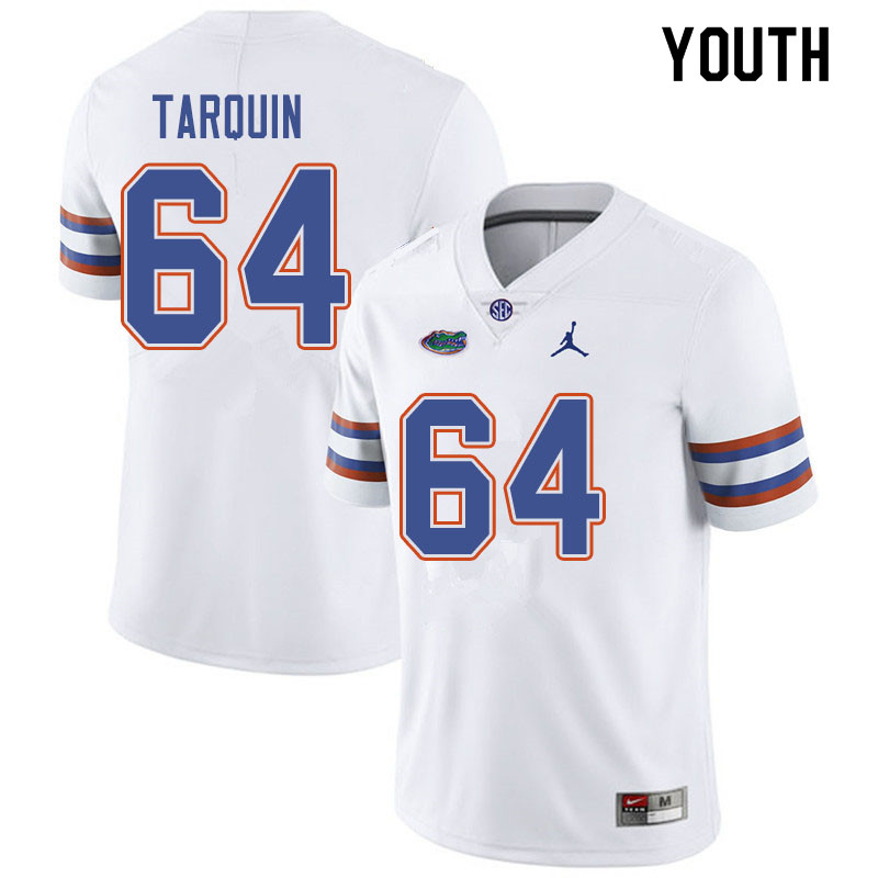 Jordan Brand Youth #64 Michael Tarquin Florida Gators College Football Jerseys Sale-White